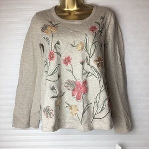 Petite embroidered sweater Size PS